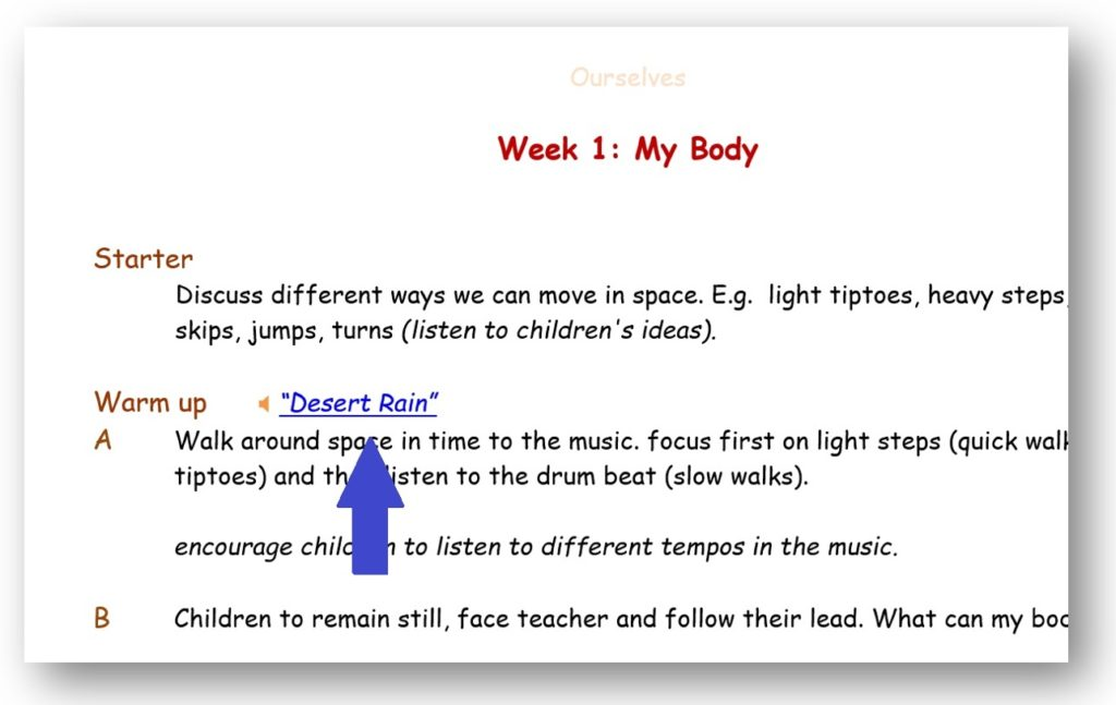 Dance Notes licence-holder example lesson text